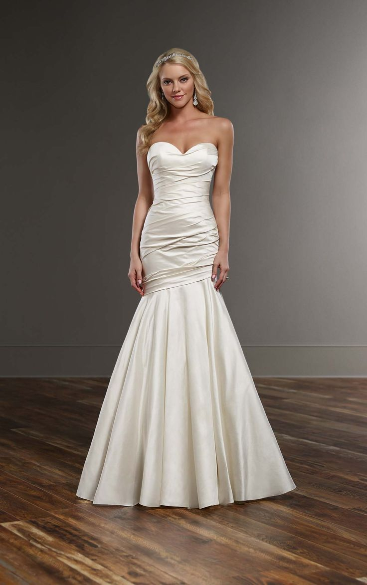 183 best Ruched and draped wedding dresses images on Pinterest ...