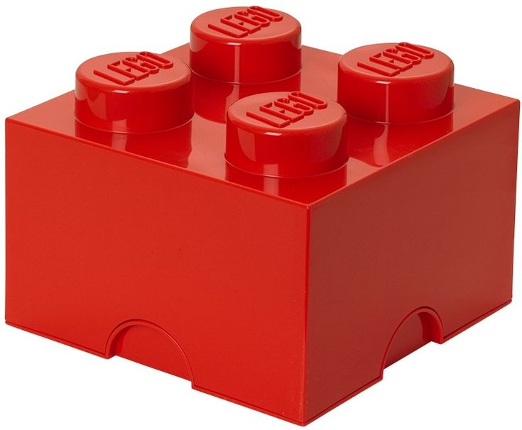 Slingert jouw LEGO ook rond op jouw slaapkamer? Dan is deze LEGO opbergbox de oplossing. In deze rode LEGO steen past heel veel LEGO. Maar misschien wil je 'm wel gebruiken in de badkamer of in de speeltuin. Het kan allemaal want deze stevige LEGO steen kan wel tegen een stootje. De steen is stapelbaar met alle andere LEGO brick varianten net als echte LEGO blokjes. Afmetingen: (L x B x H) 25 x 25 x 18 cm.  - Opbergbox Lego: brick 4 rood