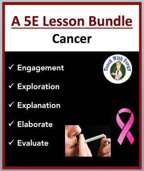 Cancer - Complete 5E Lesson Bundle  Unit Objectives:  By the end of this 5E lesson, students will: •	Compare, through inquiry and computer simulations, the altered rate of cell division among cancerous and noncancerous cells •	Investigate advances in cancer treatments and prevention •	Be able to define key terms related to cancer such as metastasis, cell division, etc. •	Explain the basic causes of cancer including environmental and biological factors