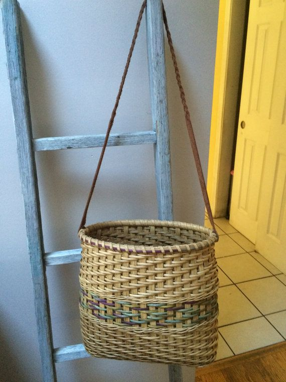 Laptop Tote handwoven basket tote/purse by BasketWeavingSupplie