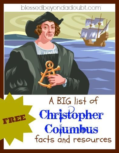 Free Christopher Columbus facts, printables, resources, and more!  Links to many different types of resources to add to your Columbus Day lesson plans.  There are videos, stories, fact sheets, coloring pages, crafts, activity pages and more.  Go to:   http://www.blessedbeyondadoubt.com/christopher-columbus-facts/?utm_source=feedburner&utm_medium=feed&utm_campaign=Feed:+BlessedBeyondADoubt+(Blessed+Beyond+A+Doubt)