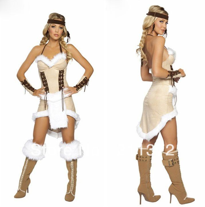 new ladies pocahontas native american indian wild west fancy dress party costumechina mainland - Native American Costume Halloween