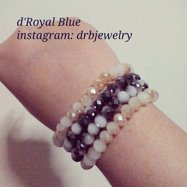 #kristal ceko #crystals  bisa beli satu set (4 gelang) atau satuan. #gelang #bracelet #statementbracelet #handmadebracelet