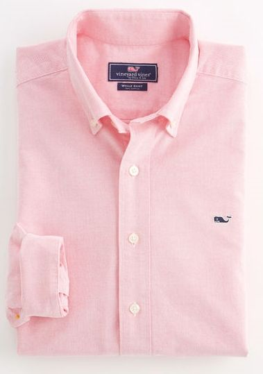 Solid pink Oxford shirt by Vineyard Vines #style