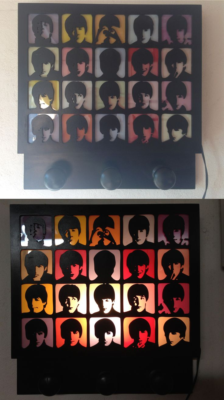 The Beatles Pop Art MDF, laser cut