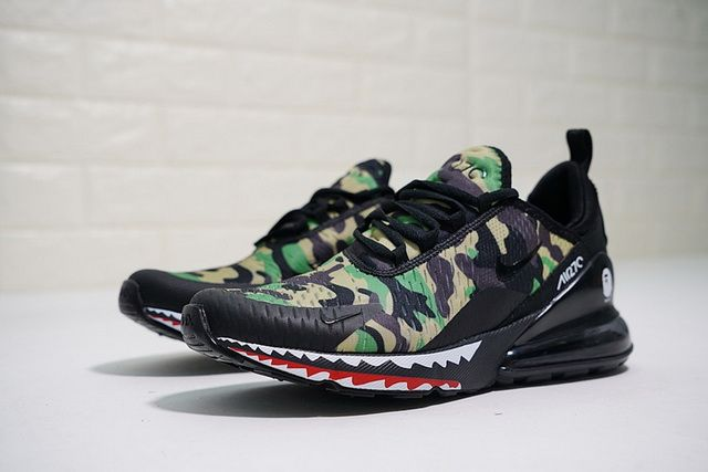 A Bathing APE x Nike Air Max 270 Red Camo Men's Size For Sale
