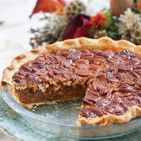 This scrumptious salted caramel pecan pie is packed with flavor.