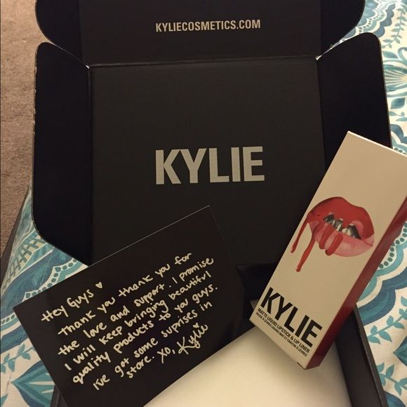 """Kylie Jenner lip kit """"22"""" Lip Kit by Kylie Jenner in the color 22. Brand new never worn. Will come with original packaging and note from Kylie. Sold out on her website. Open to offers. Kylie Jenner Makeup Lipstick"""