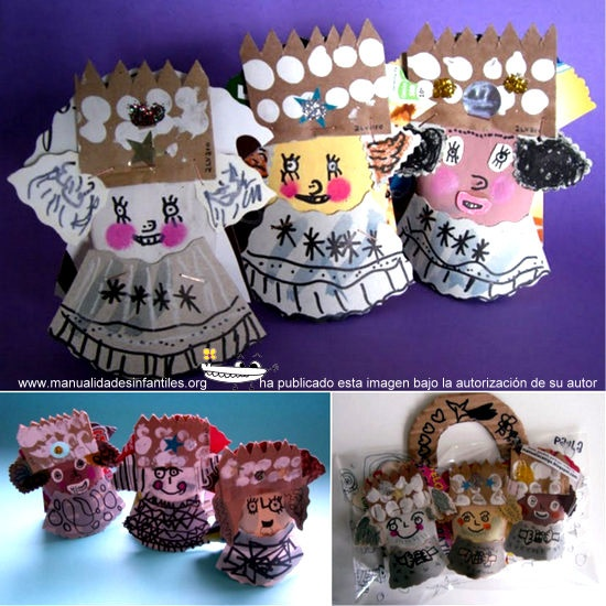 reyes magos con rollos de papel: http://www.manualidadesinfantiles.org/reyes-magos-con-rollos-de-papel/
