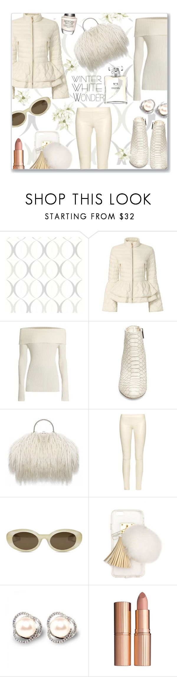 """""""Winter Wonder"""" by jckallan ❤ liked on Polyvore featuring Brewster Home Fashions, Elizabeth Roberts, The Row, Steve Madden, Elizabeth and James, Ashlyn'd, Charlotte Tilbury, Morgan Taylor, Chanel and contestentry"""