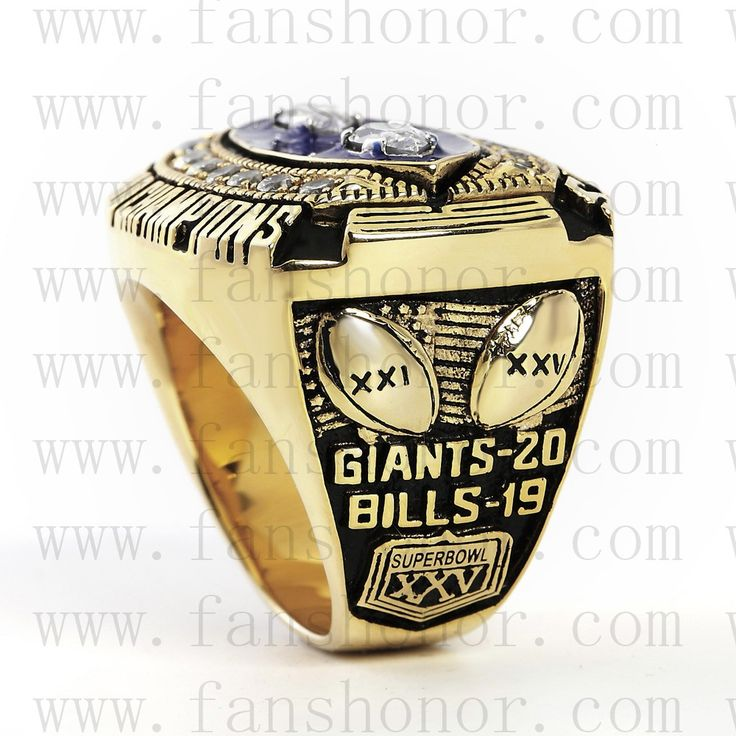Custom NFL 1990 Super Bowl XXV New York giants Championship Ring