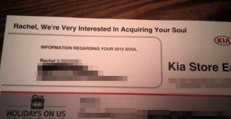 Satan Inc. is now using direct mail.