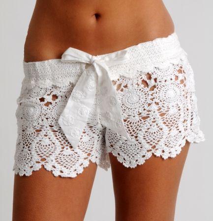 TRICO y CROCHET-madona-mía: Shorts a crochet( ganchillo) con padrón