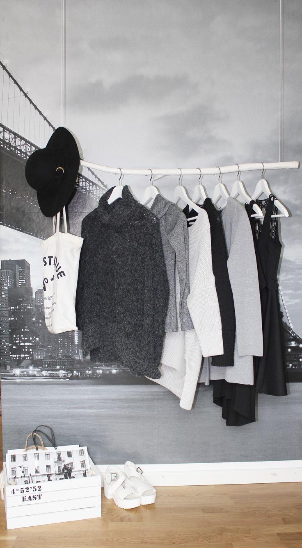 - Clothing storage - Hanging branch  - Clothing rack