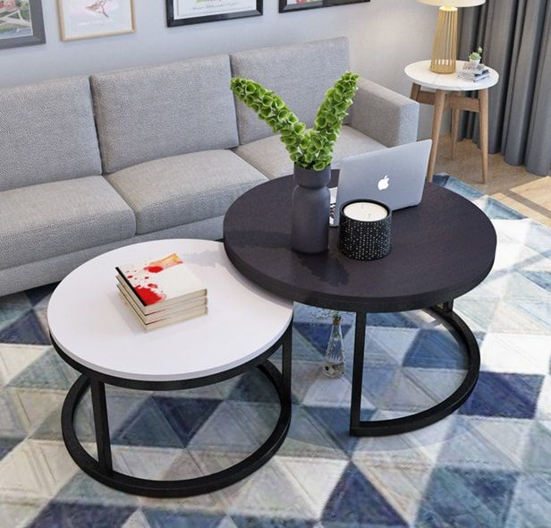 Lr235 Double Round Coffee Table Set In 2019