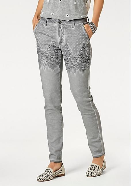 Linea Tesini Lace Detail Skinny Jeans #Kaleidoscope #Skinnyjeans #Fashion #Style #Patterns #Denim
