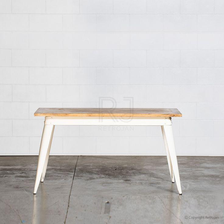 Small Retro Nash Table - White