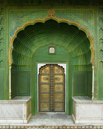 Trend Alert: The Glamour of India | GREEN ..such a pretty color | Pinterest | Doors, India and Decor