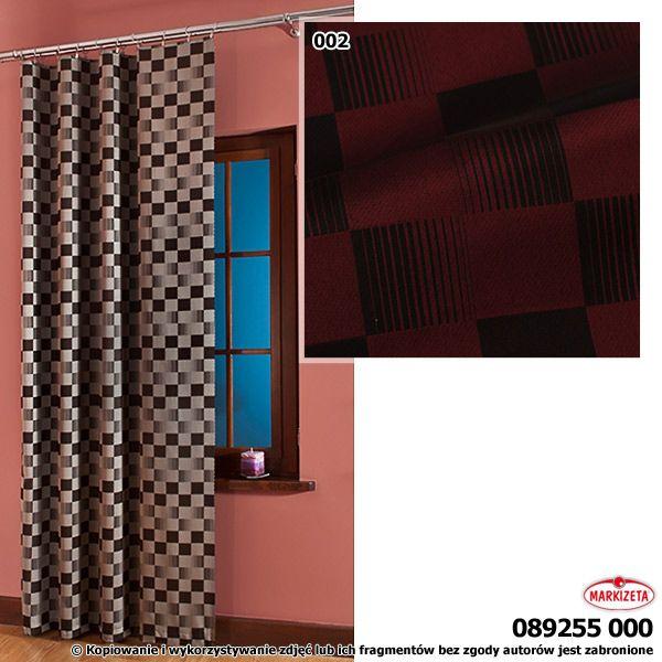 #zasłony_sklep_internetowy  Elegancka, czerwono-czarna tkanina zasłonowa dla odważnych Klientów.  Doskonała tkanina do szycia zasłon i lambrekinów. Ta tkanina z pewnością spodoba się miłośnikom nieszablonowych rozwiązań. szerokość: 300 cm  kolor: czerwono-czarny przepuszczalność światła: mała Możesz zlecić szycie w naszej profesjonalnej szwalni ceny już od 2,50 zł/mb. kasandra.com.pl
