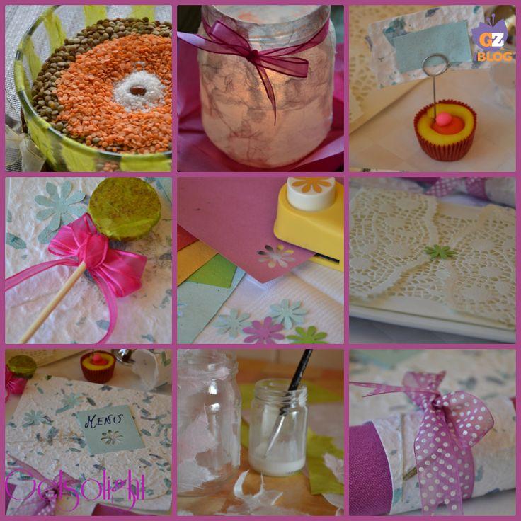Decorare la tavola con carta di riso e carta colorata, diversi modi per personalizzare con poca spesa le nostre tavole.