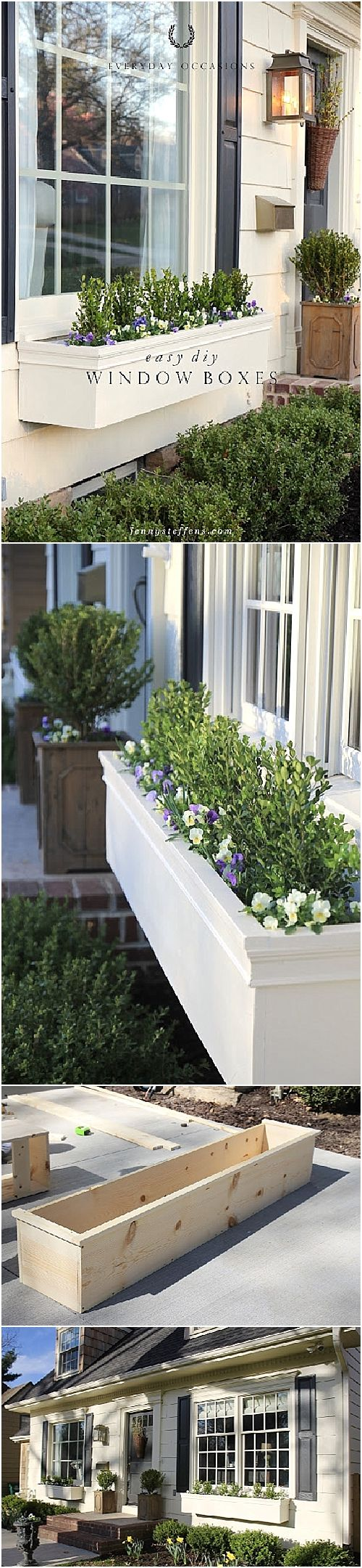 Christmas window box filler - Easy Diy Window Boxes Flower Boxes