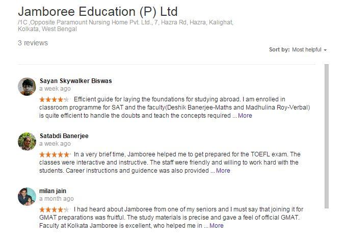 Jamboree Kolkata Reviews