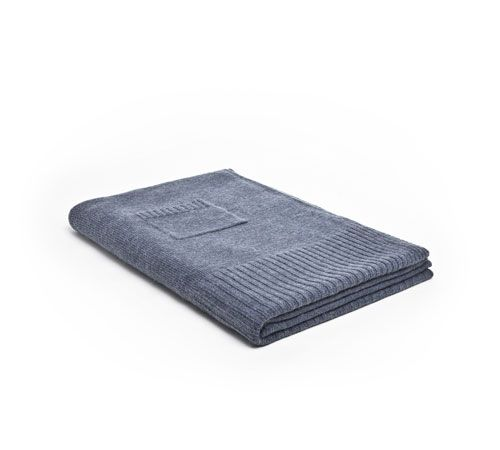 Mrs.Me home couture|blanket|Knitted mohair Blue Jean