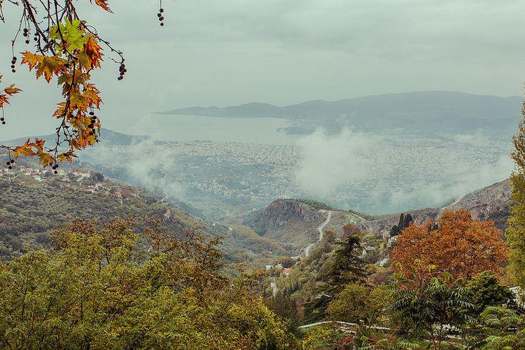 View of Volos City, from Makrinitsa. Greece