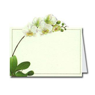 orchids diecut place cards