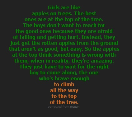 Cute :): Word Of Wisdom, Remember This, Girls Generation, Gifts Card, Diy'S Crafts, Quote, Trees, So True, Apples