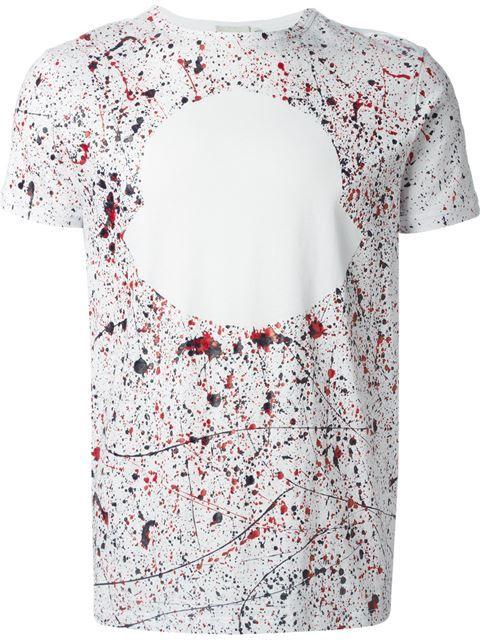 Moncler Paint Splatter Print T-shirt - Dell'oglio - Farfetch.com