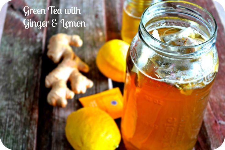Green Tea with Ginger & Lemon for Weight Loss #Detox #weightloss #greentea