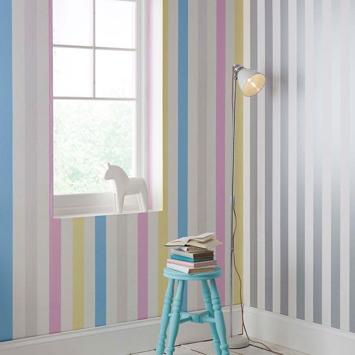 Cotton Candy Stripe Wallpaper by Graham and Brown