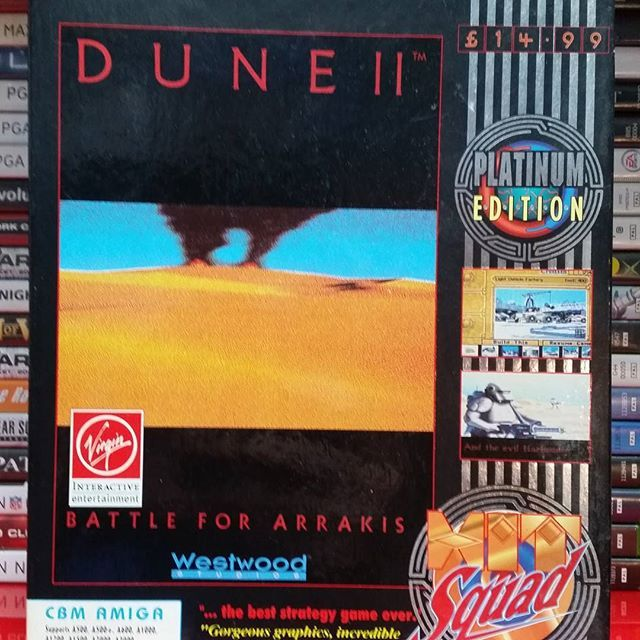 An amazing rts game for the amiga.  Dune 2: Battle for Arrakis helped to shape the way rts games play today. This is a must have for rts fans. Come check out @cardiffgeekparty and maybe buy it. #dune #dune2 #arrakis #fremen #scifi #retrogames #retro #amiga #commadore #rts by thousanddragons