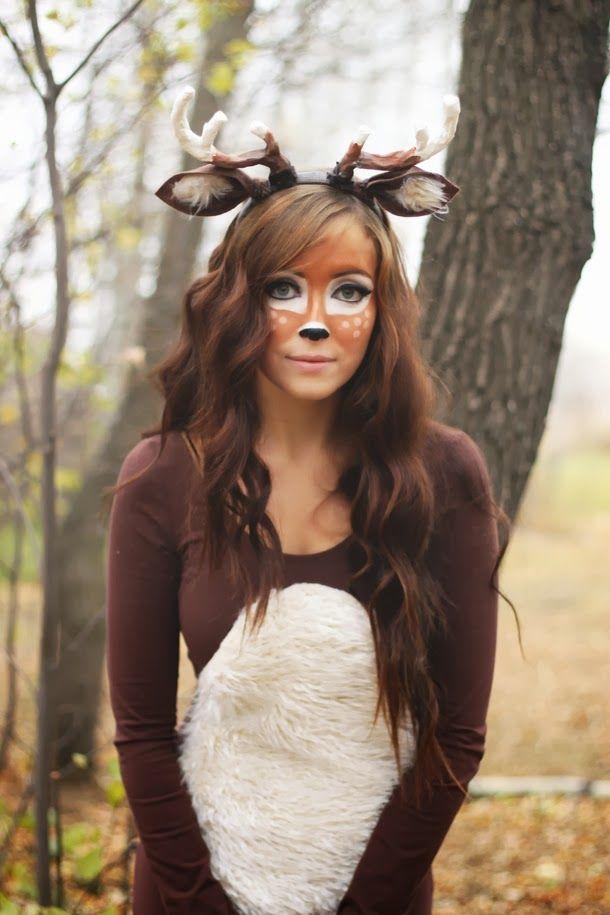 Maquillaje y disfraz de reno