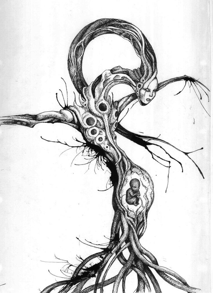 born from the earth- ink monster by ~Peter709