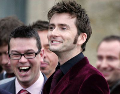 David Tennant at Billie Piper's wedding. Okay this is too cute. I can't handle it.