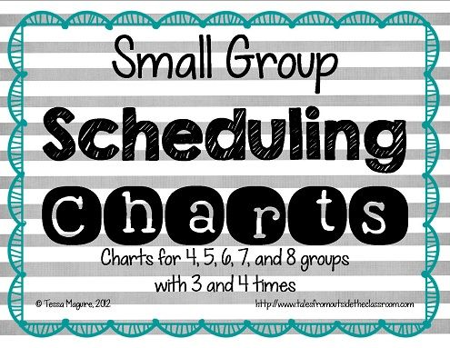 Free charts to help you figure out scheduling for your guided reading and small group instruction.