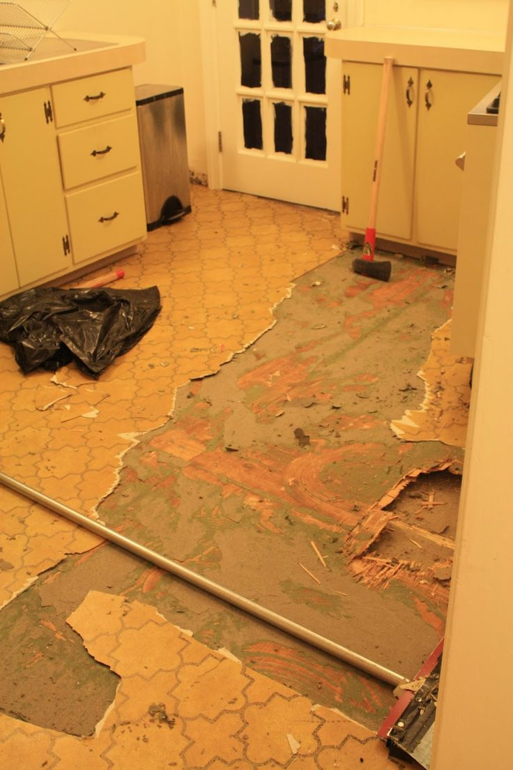 Removing Linoleum - Scraping Up Linoleum - Restoring Wood Floors - Ripping Up Linoleum