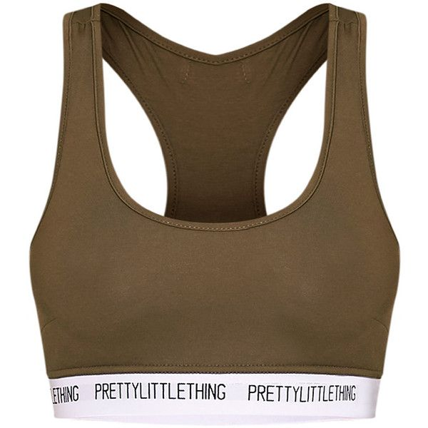 PrettyLittleThing Nude Sports Bra ($18) ❤ liked on Polyvore featuring activewear, sports bras, tops, brown sports bra, sports bra, sports jerseys, brown jersey and sport jerseys