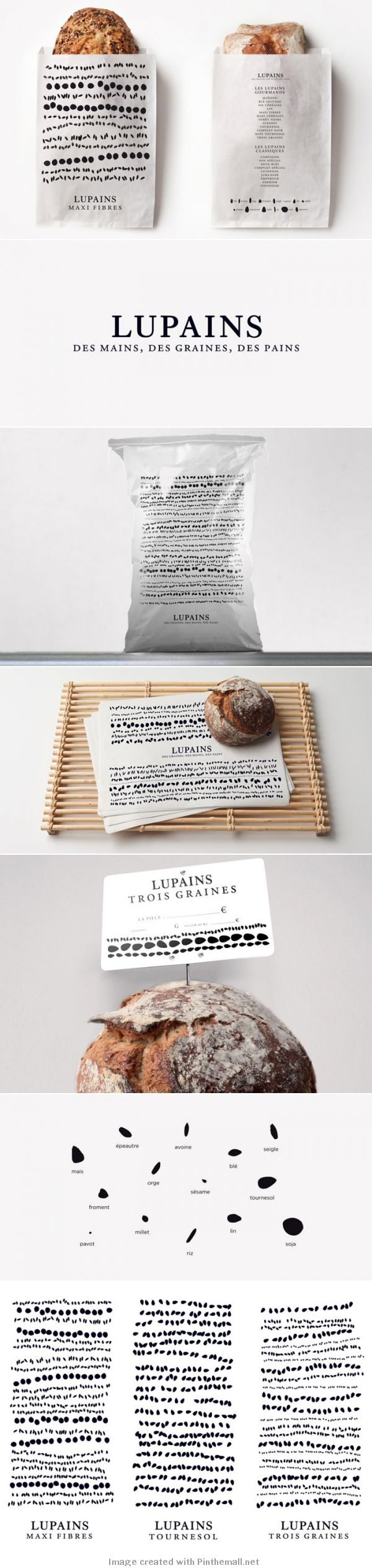 Lupains. Yummy, I could eat this bread for breakfast #identity #packaging PD