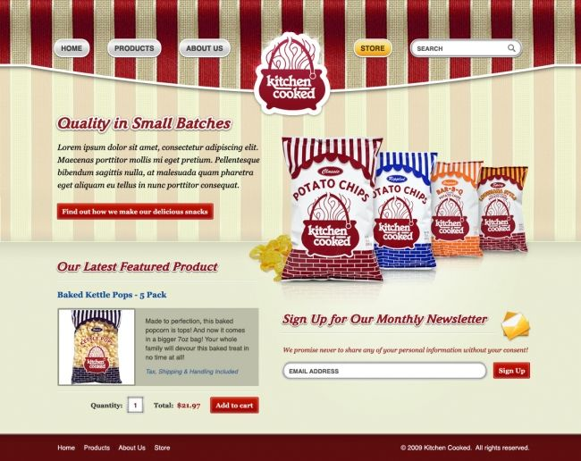 Retail Ecommerce Web Design Peoria IL | Kitchen Cooked   Your Ecommerce Design  Style Can Also