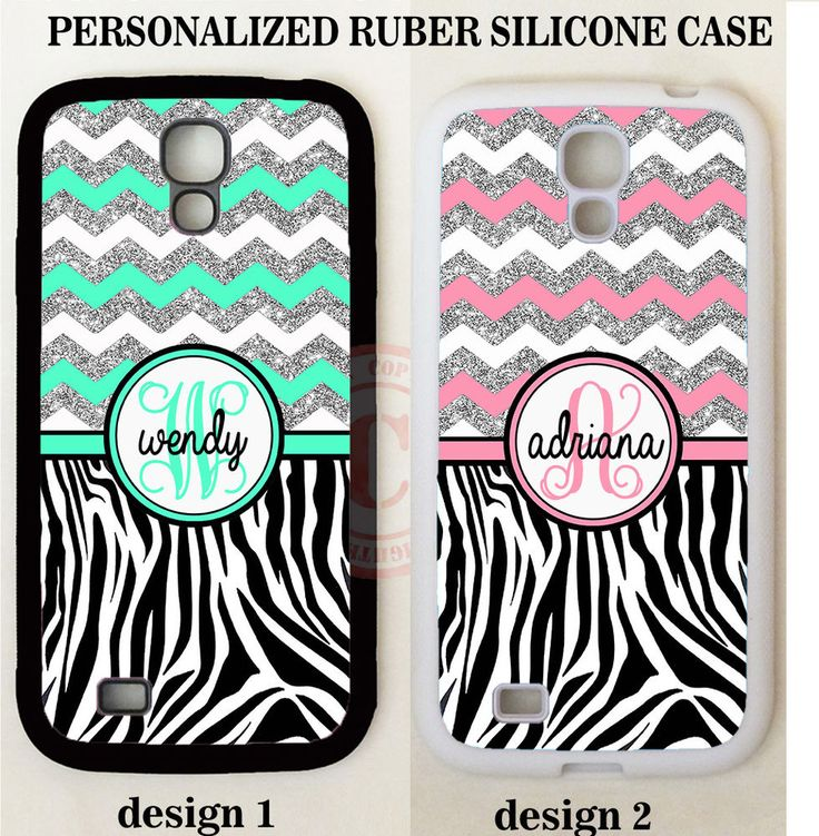 MINT PINK SILVER CHEVRON ZEBRA MONOGRAM Case For Samsung Galaxy S6 S7 EDGE NOTE #UnbrandedGeneric