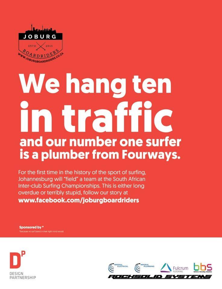 Hanging ten in traffic