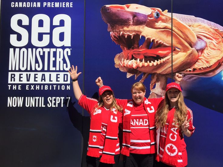 Our gift shop team shows off the newest Canada team wears
