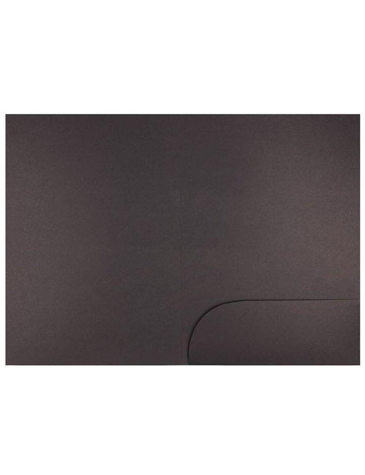 Miliko Heavy Duty Kraft Paper Document Folder/File Pocket, 12 Per Pack (Black Kraft Paper)