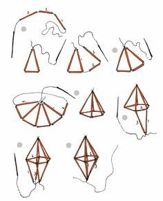 geometric straw diamond tutorial | Scribd - I am obsessed with himmeli mobiles now.