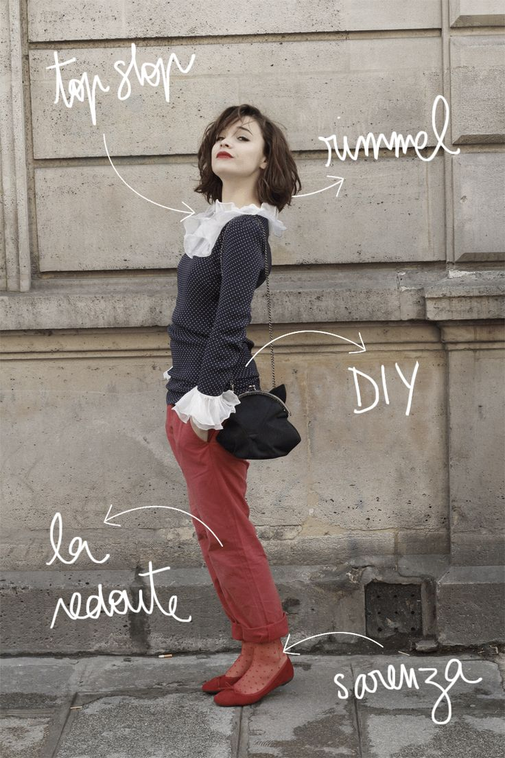 Tags french fashion la redoute secrets to french style style - Make My Lemonade Ballerines Valensi Sur Sarenza Collants Plumetis Rouge H Chino Rouge
