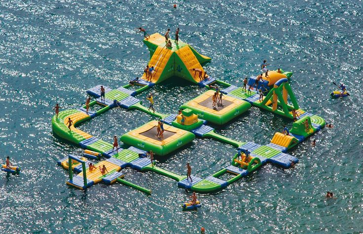 The Wibit Sports Park 60 is an inflatable island of water activities for any lake.