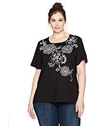 New Alfred Dunner Women's Floral Yoke Knit Top S/s online. Find the perfect Cactus Bay Apparel Tops-Tees from top store. Sku MJDB95290VOBC84107